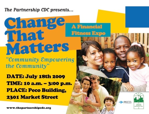 "TPCDC presents ""Change that Matters"" on Saturday, July 18 @ PECO"