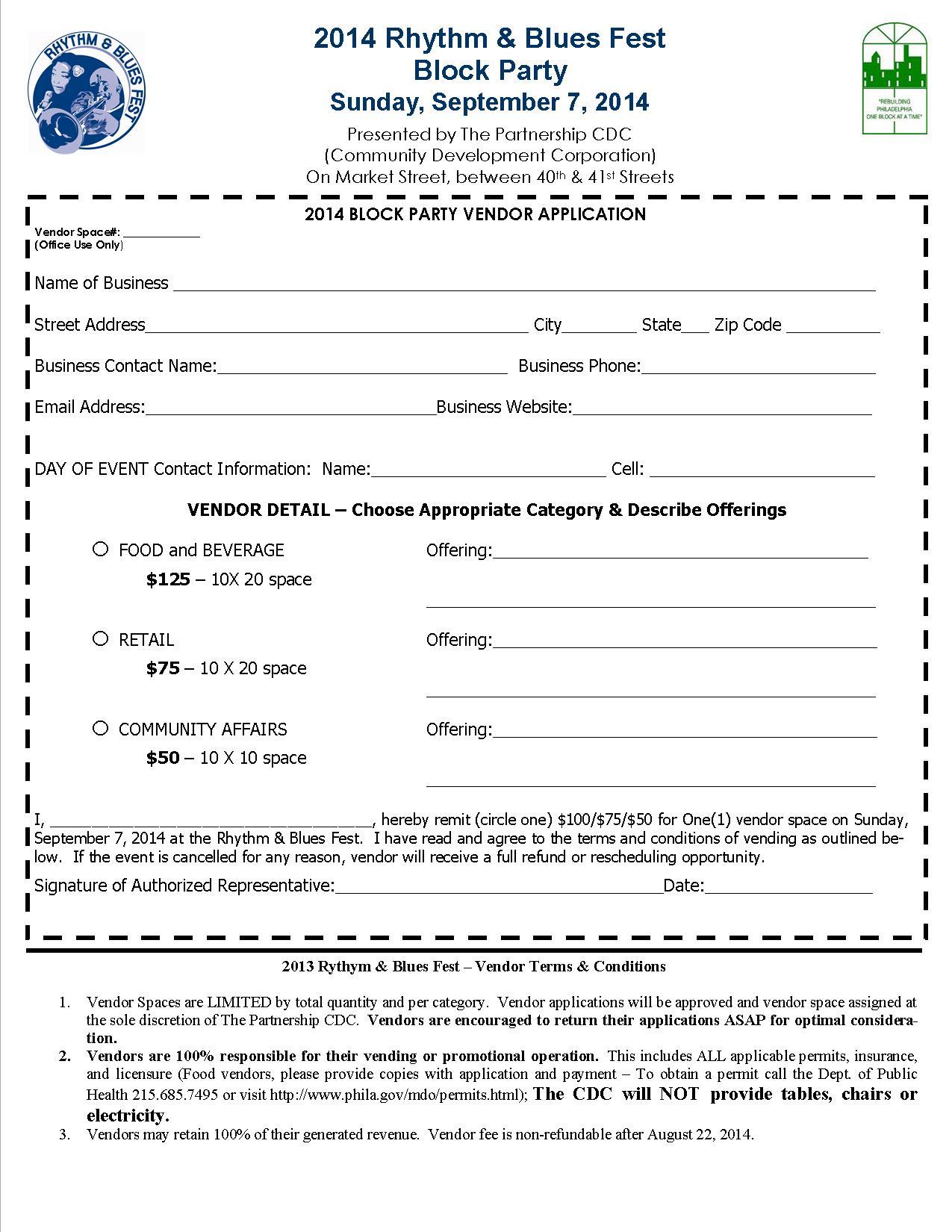 The RB Fest – Vendor Registration Form
