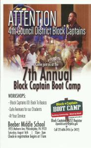 block captain boot camp