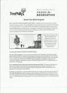 Street Tree Block Program