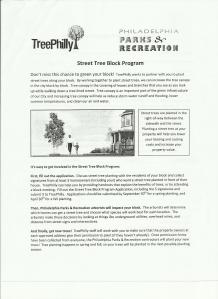 Street Tree Block Program