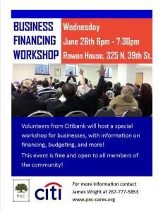 flyer  business financing workshop  06262013
