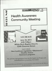 flyer health workshop 06262013