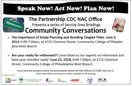 Community Conversations flyer